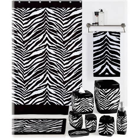 Zebra Bathroom Accessories Zebra Black And White Shower Curtain Bath Accessories By Creative Bath Townhouse Linens