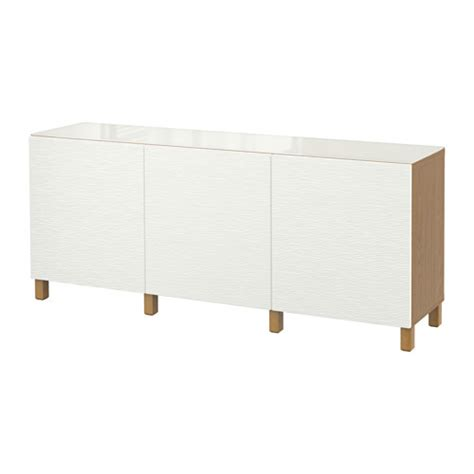 Besta Credenza by Best 197 Storage Combination With Doors Oak Effect Laxviken