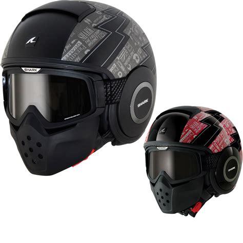 shark motocross helmets shark raw cult motorbike open face helmet protection mask