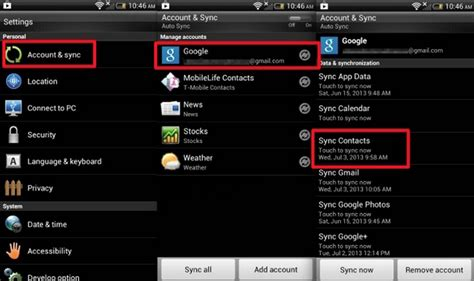 how to sync android how to transfer contacts from android to iphone