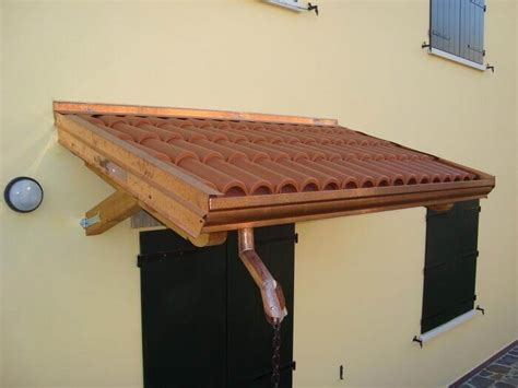 piccole tettoie pensilina in legno con staffa dritta amalegno