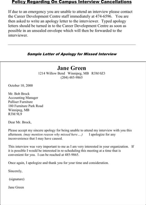 Apology Letter To For Missing Work Apologize Letter For Missed Appointment For Excel Pdf And Word