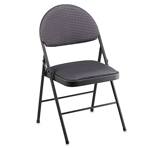 bed bath beyond chairs buy cosco 174 oversized upholstered metal folding chair in black from bed bath beyond