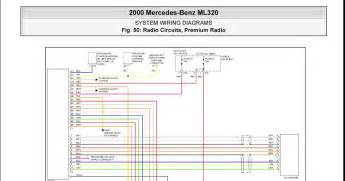 2000 mercedes ml320 system wiring diagrams radio circuits premium radio schematic wiring