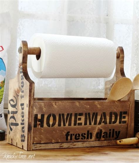 How To Make Paper Towel Holder - how to make a paper towel holder that matches your kitchen