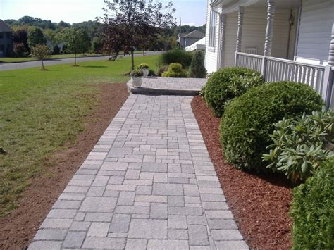 Belgian Block Patio by Rockland Pavers Design Driveways Walkways