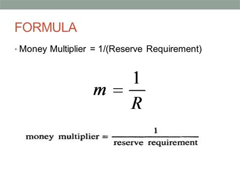 Credit Deposit Ratio Formula Money Multiplier Ppt