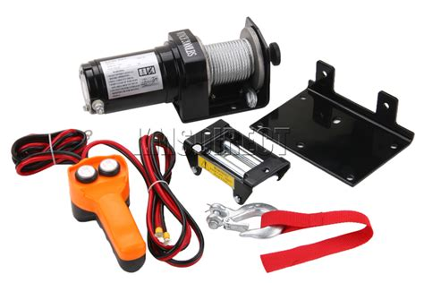 boat winch with remote control new 12v volt electric winch 2000 lb with remote control