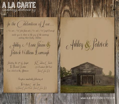 rustic wedding invitation templates ipunya