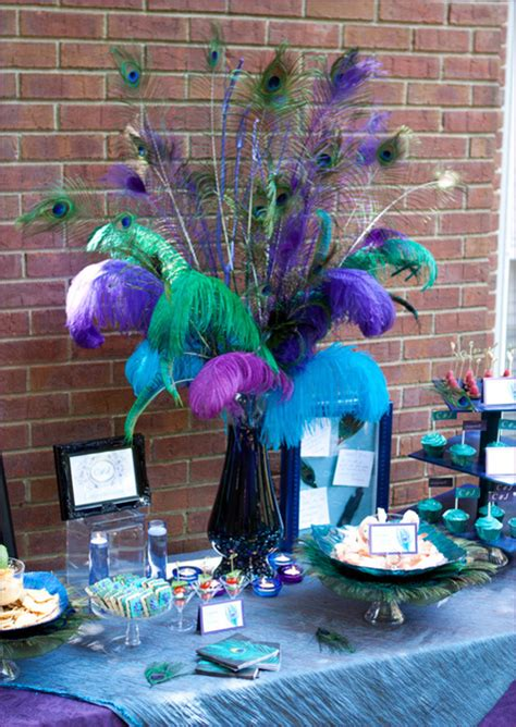 peacock themed decor real pretty peacock themed engagement