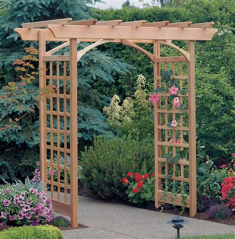 How To Build An Arbor Trellis | a trellis an arbor and a pergola magpie lane garden