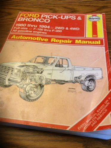 auto repair manual online 2004 ford f350 regenerative braking find haynes auto repair manual ford pickup bronco 1980 1994 2wd 4wd f100 f 350 motorcycle in