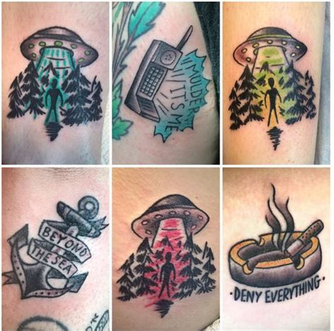 x files tattoos 52 best the x files images on