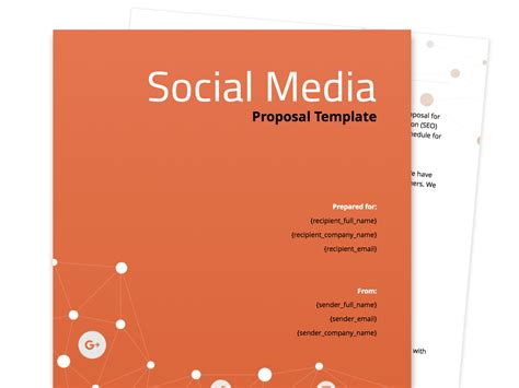 Free Business Proposal Templates Social Media Design Templates Free
