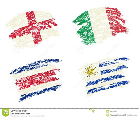 flags of the world to draw flags football brazil group d uruguay costa rica