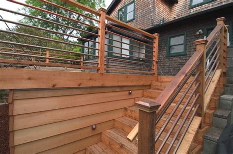 images  cabin railing ideas  pinterest