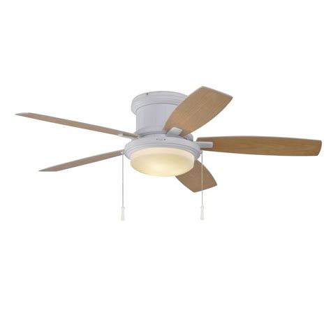 Outdoor Hugger Ceiling Fans by Hton Bay Roanoke 48 Quot Outdoor White Ceiling Fan Dome