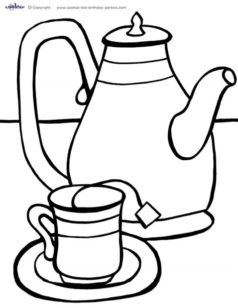 Tea Coloring Pages