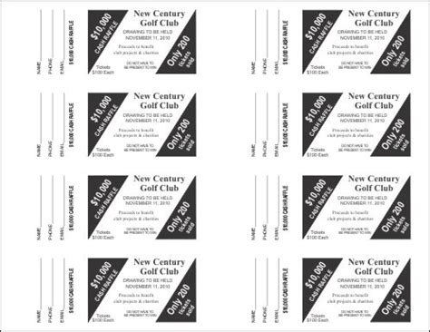 raffle ticket templates small raffle ticket templates 4