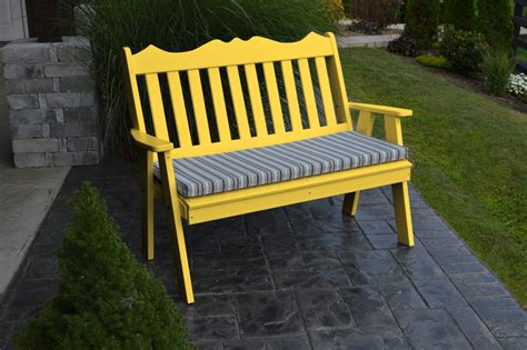 yellow garden bench yellow garden bench 4 royal english bench 187 amish woodwork