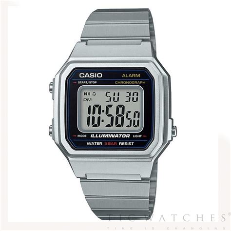 Casio Digital b650wd 1aef casio digital silver stainless steel
