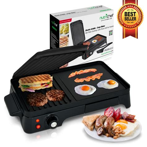 electric cooktop griddle nutrichef pkgril43 kitchen cooking cooktops griddles