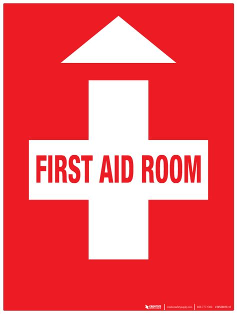 Wall Sign Room aid room wall sign phs safety