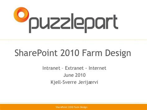 designing a microsoft sharepoint 2010 infrastructure sharepoint 2010 farm architecture design infrastructure