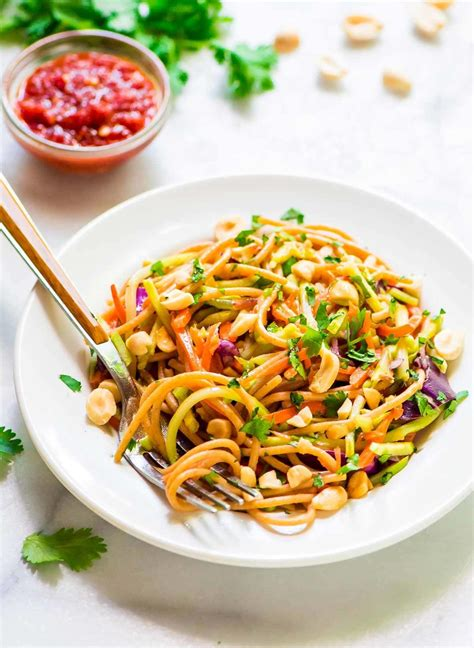 noodle salad recipes asian noodle salad with creamy peanut dressing