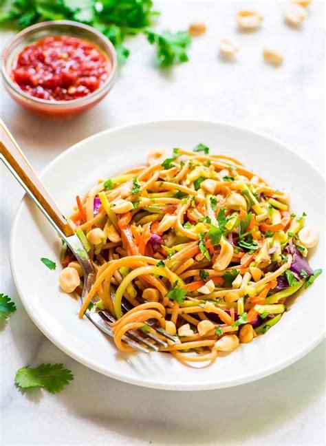 noodle salad recipes asian noodle salad with creamy peanut dressing