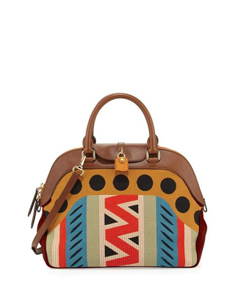 Burberry Dome Satchel by Burberry Upholstered Medium Dome Satchel Bag Brown Ochre