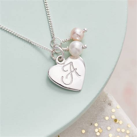 Letter Necklace Not On The High Sterling Silver Initial Pendant By Claudette Worters