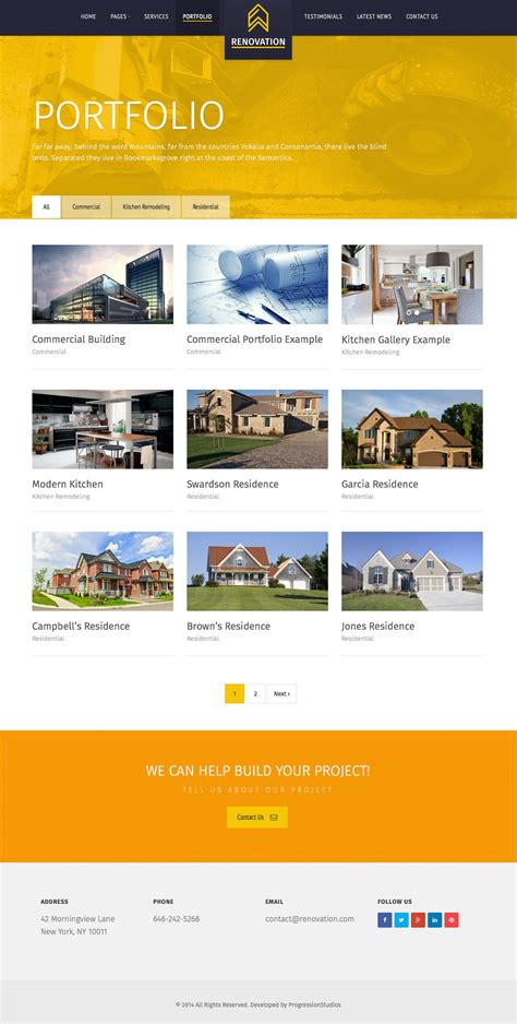 renovation construction company site template by