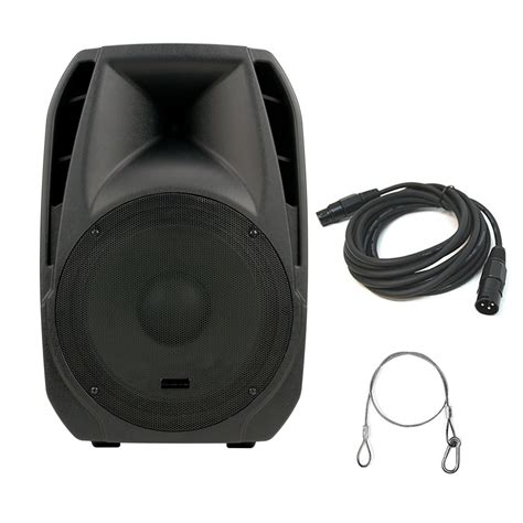 Speaker Subwoofer American 15 Inch american dj els15 bt 2 way 12 inch active bluetooth speaker with dmx cable and truss mounting