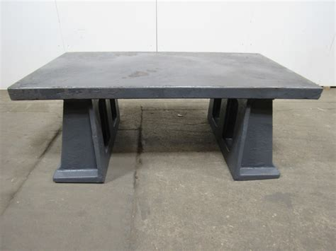 welded bench 72 quot x40 quot vintage cast iron welding layout assembly work