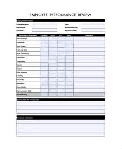 employee performance review templates sle performance review form template 7 free