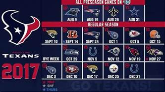 houston texans home schedule abc13 news ktrk houston and southeast news