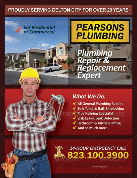 Home Design Hvac plumbing services flyer vol 01 by kinzi21 graphicriver