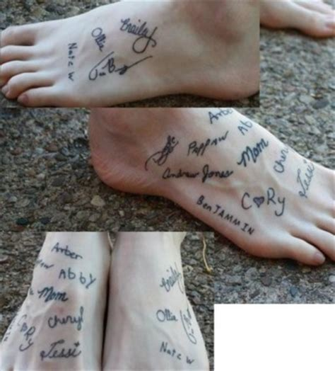 tattoo love everyone cool idea i started a signature foot because i thought of