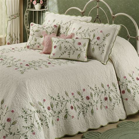 Quilted Bed Linen Quilted Bedding Park Piper Taupe 6piece Quilted
