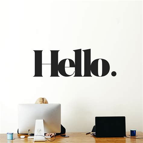 hello home decor hello wall message weew smart design