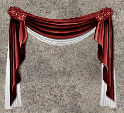 red drapes and curtains second life marketplace nb curtain drapes red white