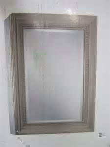 lot 208 glacier bay decorative framed medicine cabinet
