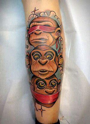 evil monkey tattoo designs monkey meanings custom design
