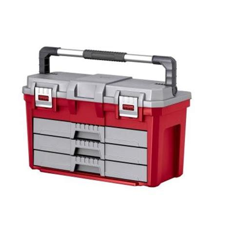 keter 3 drawer tool box 197479 the home depot
