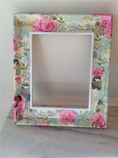 Decoupage Photo Frame - shabby decoupage frame https www etsy listing