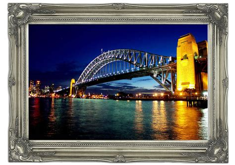 wall murals sydney sydney harbour bridge reflections architecture mural printed wall mural
