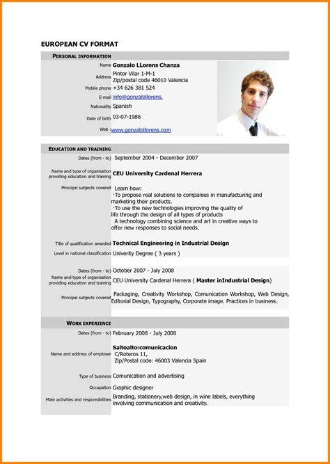 Resume Format Pdf by Resume Format Pdf Ledger Paper