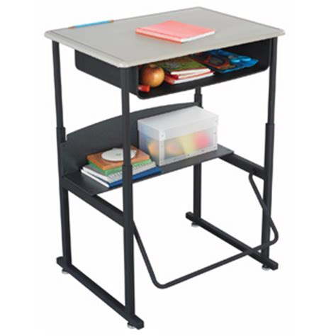Standing Student Desks Stand Up Classroom Student Desk Adjustable Height Laptop