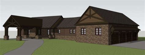 hdg design home group brick ranch rendering home design group